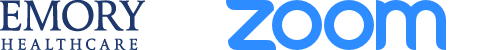 Emory and Zoom Logos
